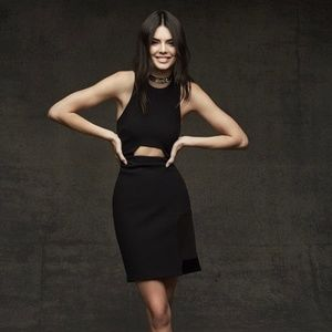 Topshop Black Cut Out Dress By Kendall + Kylie